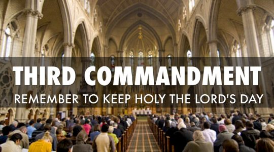The Third Commandment: Love the Lord's Day (CCC 2168–2195)
