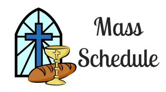 Mass Schedule for this week