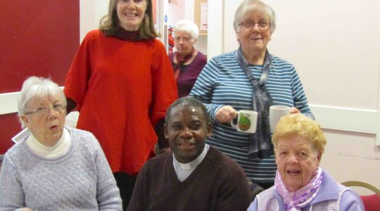 Fr Ghis drops in for a cuppa