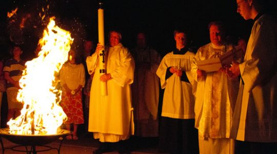 Easter Vigil Mass - Saturday at 8pm
