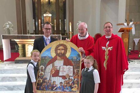 Presentation of Icon to St Columbkille's School