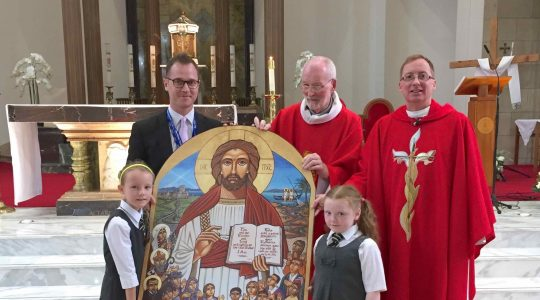 Presentation of Icon to St Columbkille's School
