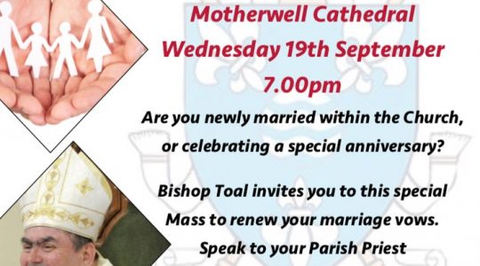 Mass to celebrate Marriage & Family LIfe