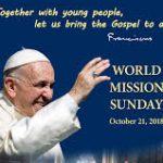 World Mission Sunday 21st October 2018