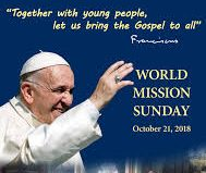 World Mission Sunday 21st October 2018