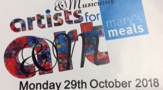 Artists and Musicians Annual Event for Mary's Meals