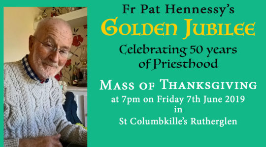 Mass for Golden Jubilee of Fr Hennessy