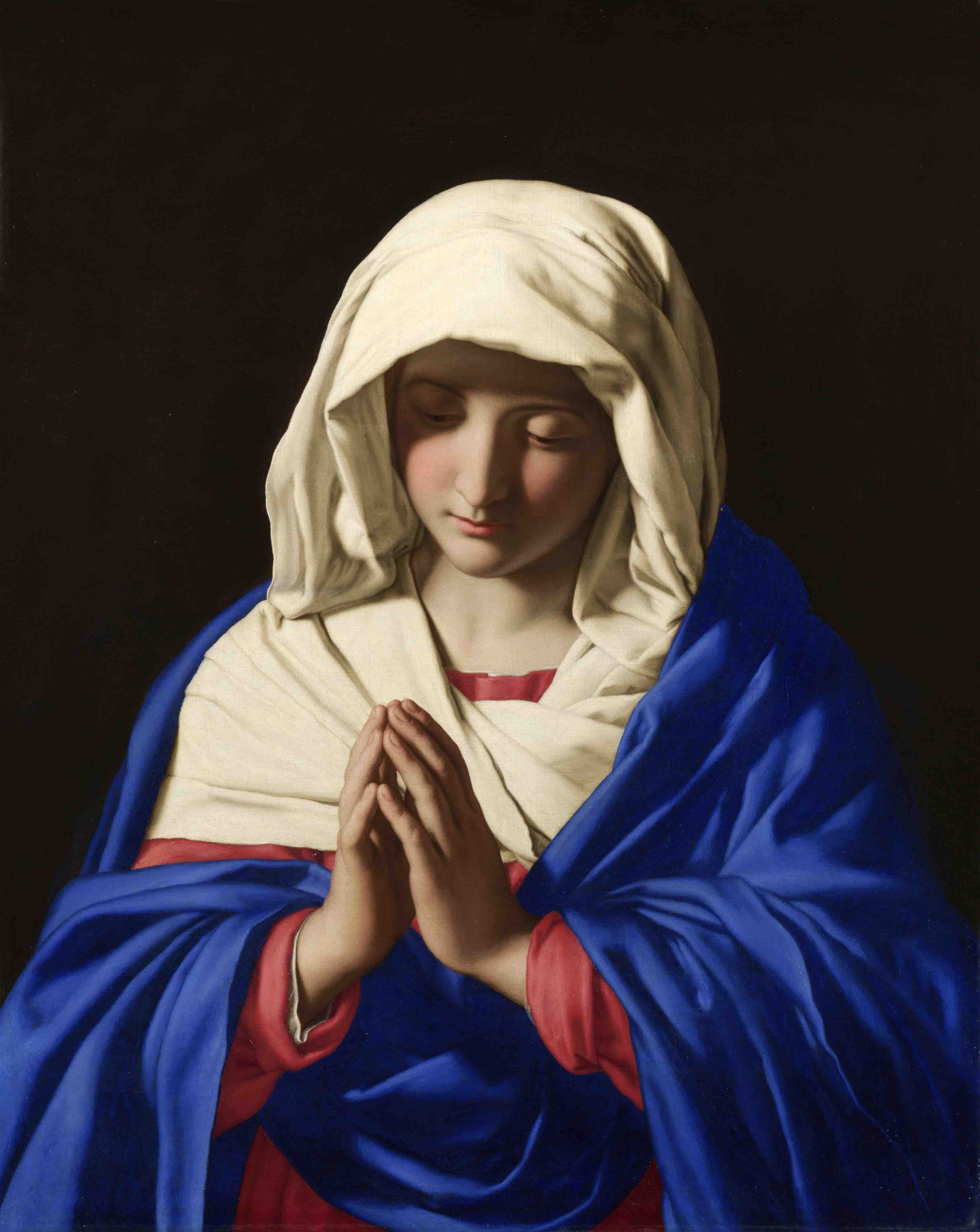 Full title: The Virgin in Prayer Artist: Sassoferrato Date made: 1640-50 Source: https://www.nationalgalleryimages.co.uk/ Contact: picture.library@nationalgallery.co.uk  Copyright © The National Gallery, London