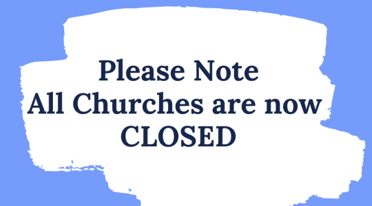 All Churches closed in Diocese of Motherwell